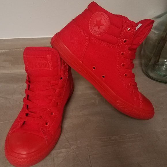 28ad5cb29091 Converse Shoes - All red high top Converse sneakers